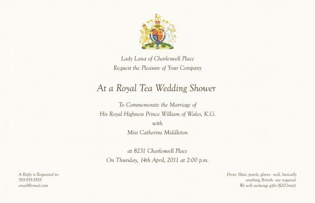 Royal Tea Invitations