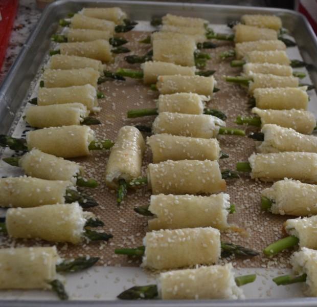 Sesame Asparagus Roll Ups
