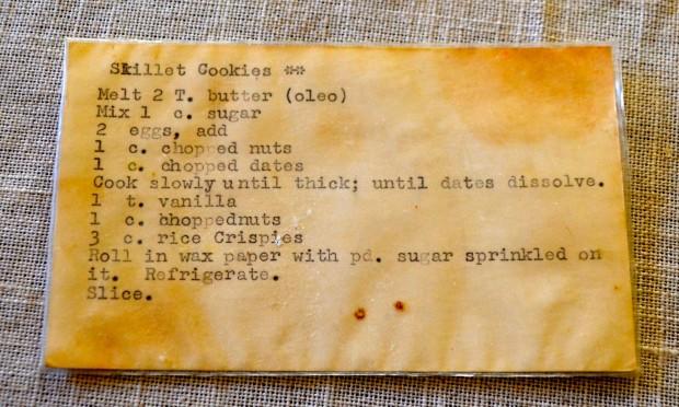 Date skillet cookies