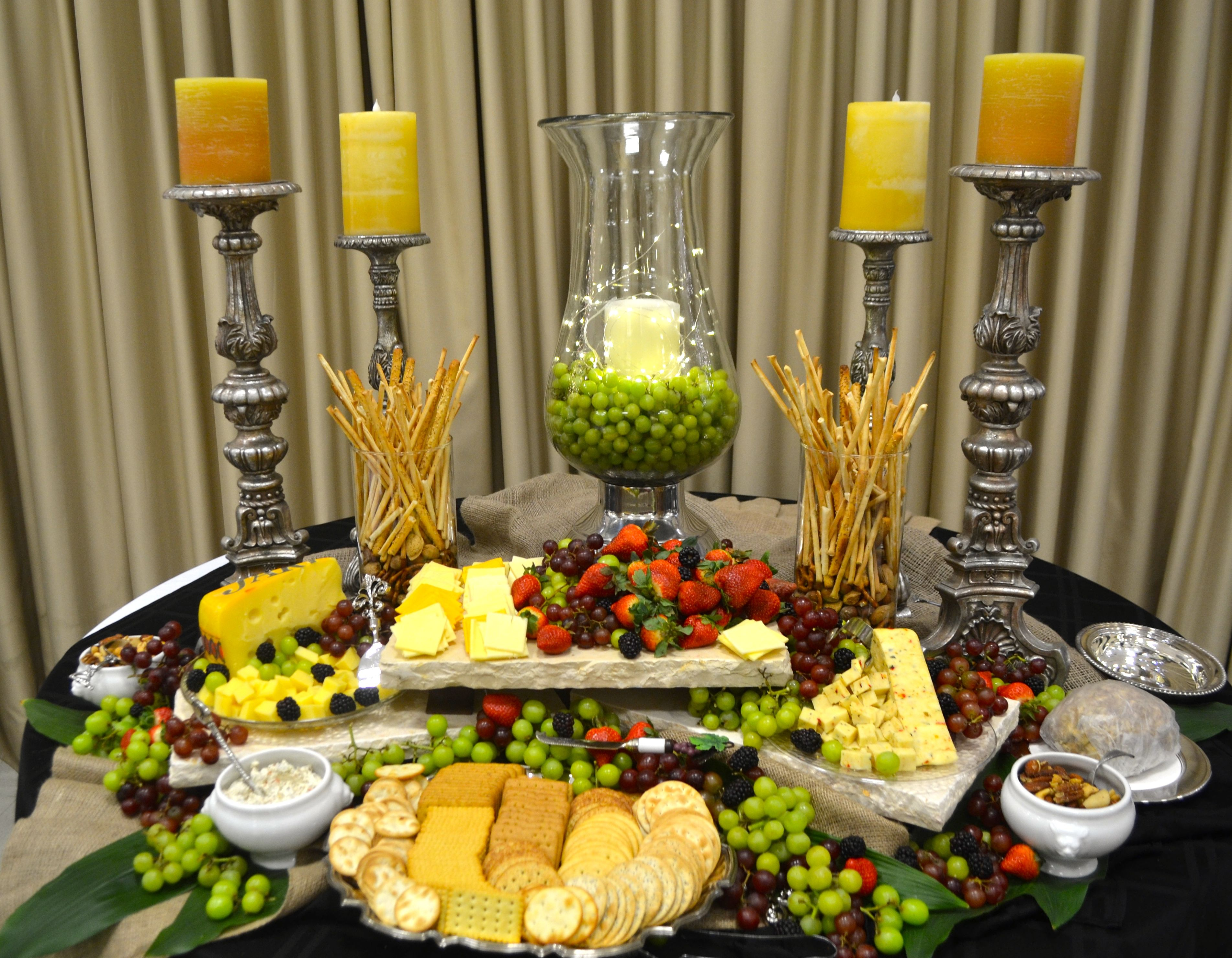 Cheese Boardtable on Stacked Display Table