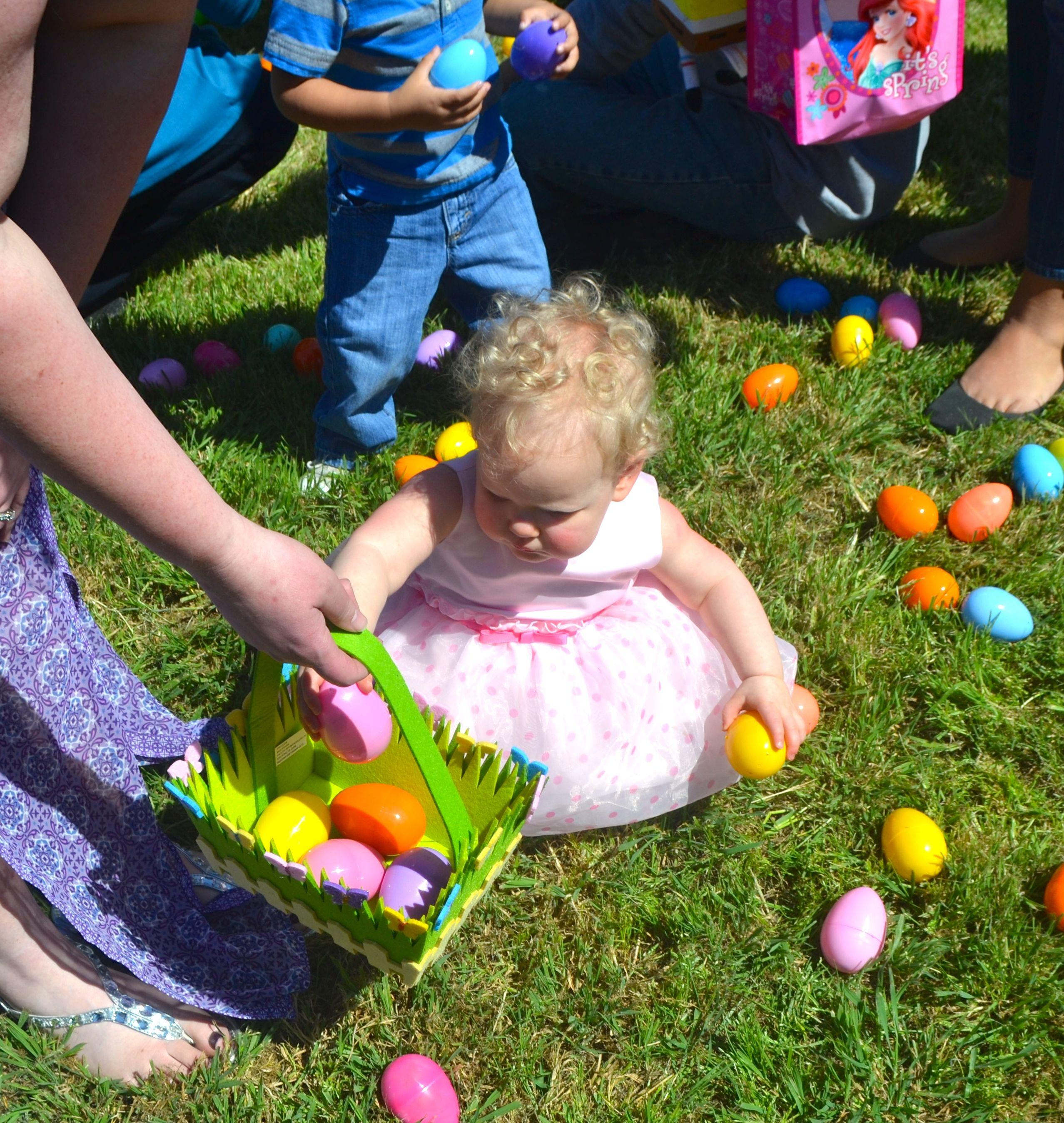 Pretty Baby Hunts Easter Eggs